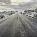 Image of long road with snow